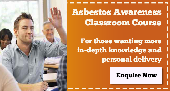 Get in touch for more details about our classroom based asbestos awareness training.